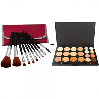 make-up home goods galore cosmetics makeup brushes makeup palette concealer contouring