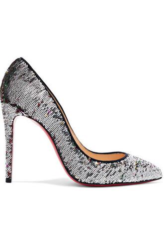 100 pumps silver shoes