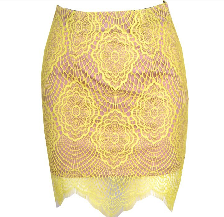 Hot spot lace skirt