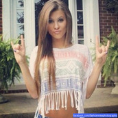 t-shirt,fringes,fringed top,tribal pattern,crop tops,top