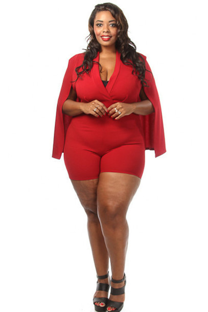 Plus Size Jumpsuits With Sleeves Photo Album - Reikian