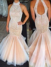 dress,white dress,mermaid prom dress,prom dress,prom,prom gown