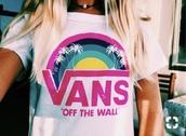 shirt,rainbow,vans t-shirt