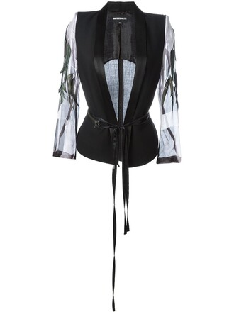 jacket feathers black