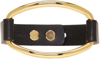 gold leather black black and gold jewels