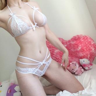 underwear bra straps lacy bow pantys lingerie 1675952