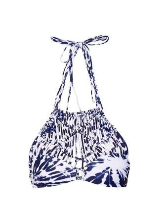 bikini bikini top print blue swimwear