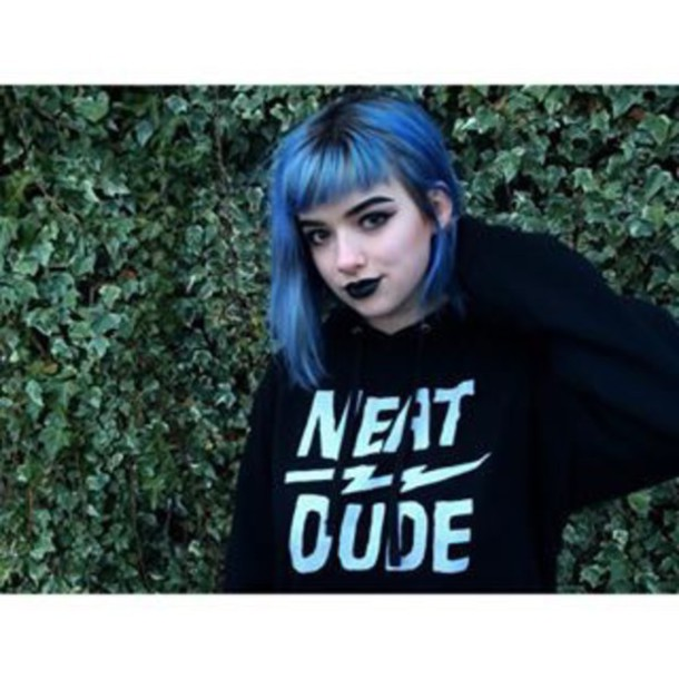 Sweater Xoe Arabella Bluehairdontcare Blue Neat Dude Black