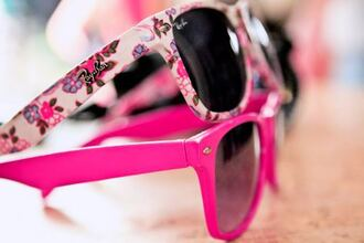 sunglasses rayban flowers pink sunglasses