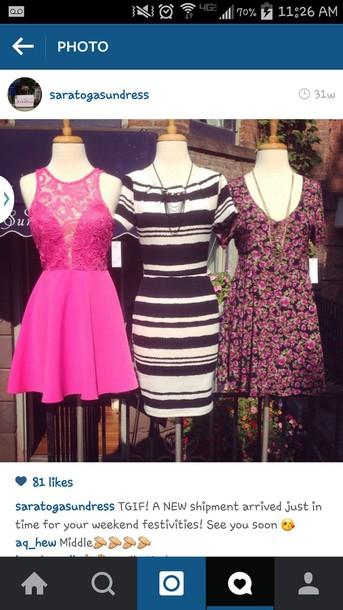 dress pink lace dress