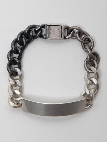 Maison Martin Margiela 11 Brass Bracelet in silver at oki-ni