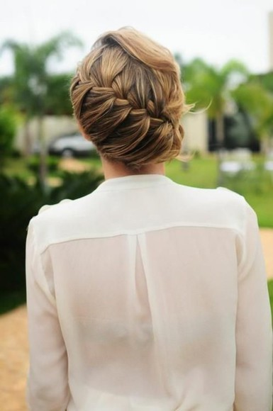 blouse braid cream