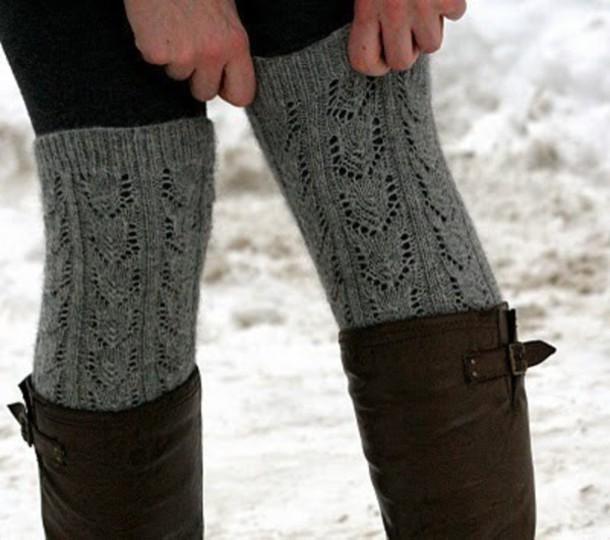 10f515cd464 shoes knitwear grey socks knee high socks knitted socks grey knit knee high  socks