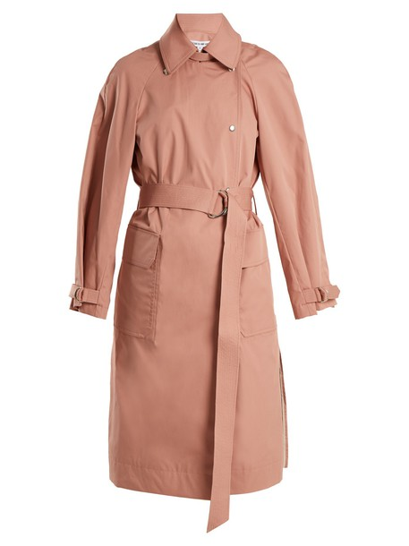 Elizabeth and James coat trench coat cotton light pink light pink