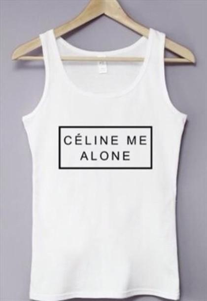 t-shirt celine me alone tee