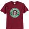 Starbucks coffee maroon t-shirt