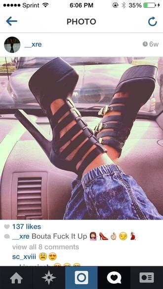 shoes black pumps black pumps buckles heels high heels