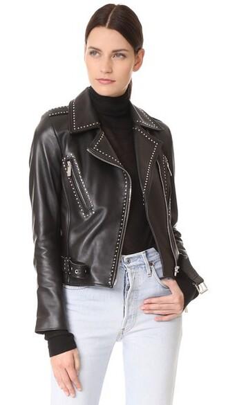 jacket studs black
