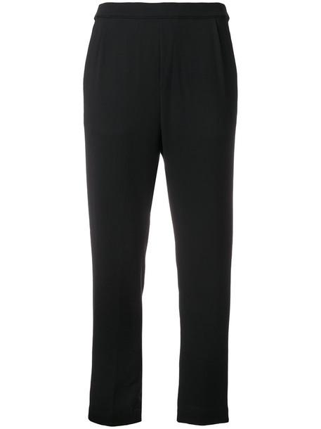 Massimo Alba cropped women spandex black pants