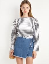 skirt,denim wrap skort,denim,denim skirt,denim shorts,shorts,skorts,frayed denim,summer shorts,summer skirt,pixie market,28719