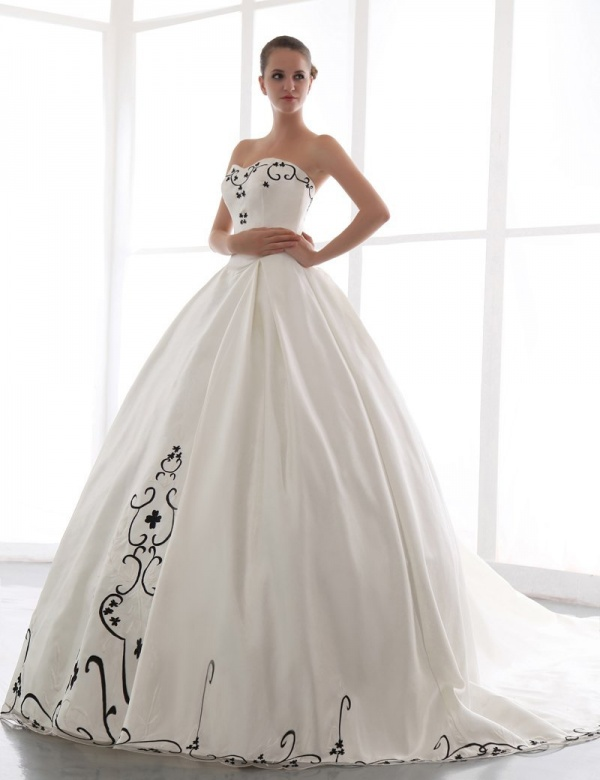 Honeystore women's ball gown sweetheart chapel ... on picsity