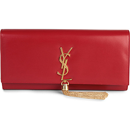 SAINT LAURENT - Cassandre Tassel leather clutch | Selfridges.com