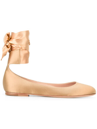 women flats leather nude silk satin shoes