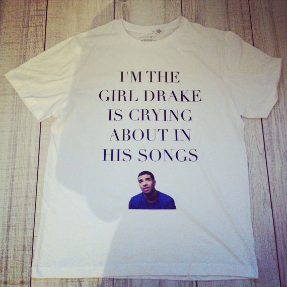 DRAKE TSHIRT by ROUKEYS on Etsy