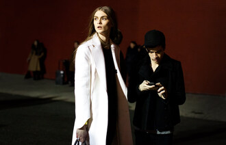 garance dore white coat long coat
