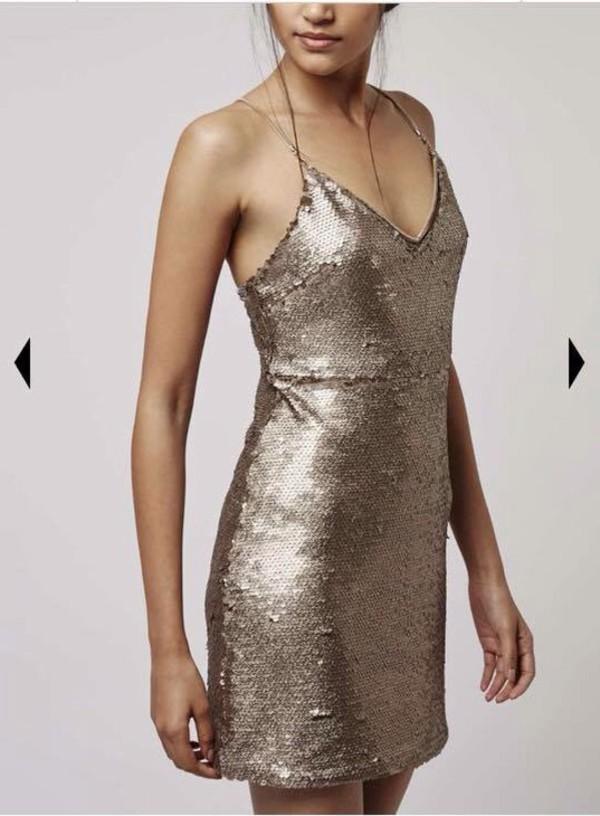 Dress Gold Prom Dress Girly Cute Bodycon Dress