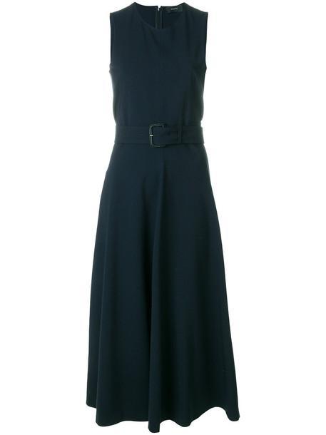 Joseph dress flare dress flare women spandex fit blue