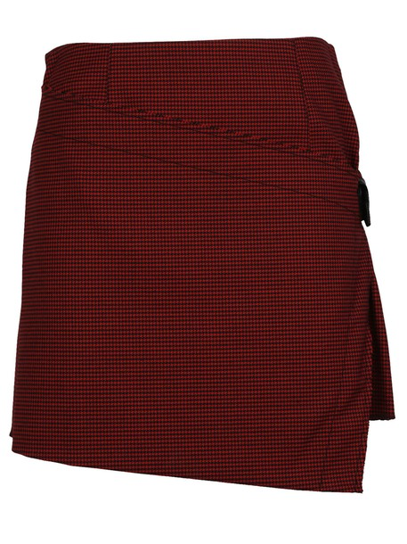 Helmut Lang skirt mini skirt mini pleated houndstooth