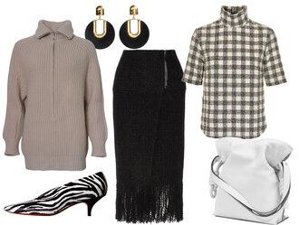 look de pernille blogger sweater top skirt shoes jewels bag