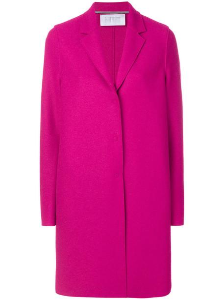 HARRIS WHARF LONDON coat women classic wool purple pink