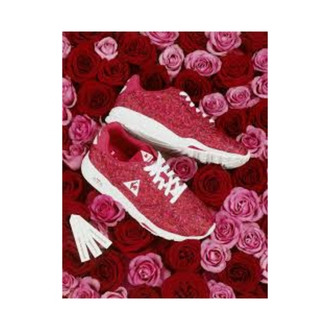 shoes red shoes roses coq sportif