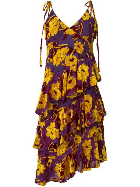 Daizy Shely dress women silk purple pink