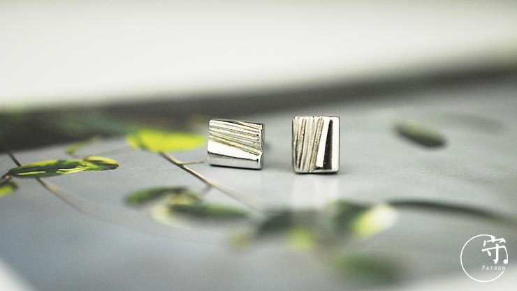 Natural Irregular Stripes Lines Earrings Women Unique Sliver Earring - Wishbop.com