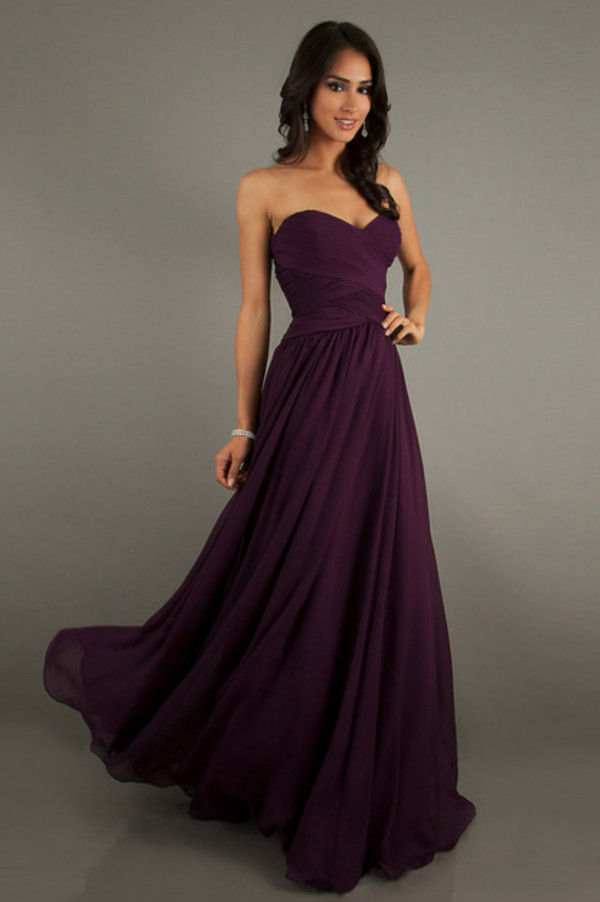 Long Strapless Gowns Mori Lee Long Bridesmaid Dresses- PromGirl