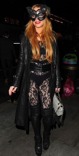 tights underwear all black everything lace lindsay lohan halloween halloween makeup halloween costume costume