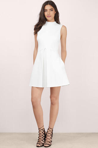White Turtleneck Dress - Shop for White Turtleneck Dress on Wheretoget