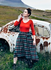 like a riot,blogger,skirt,top,shoes,bag
