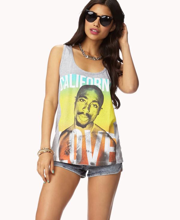 skirt tupac shirt