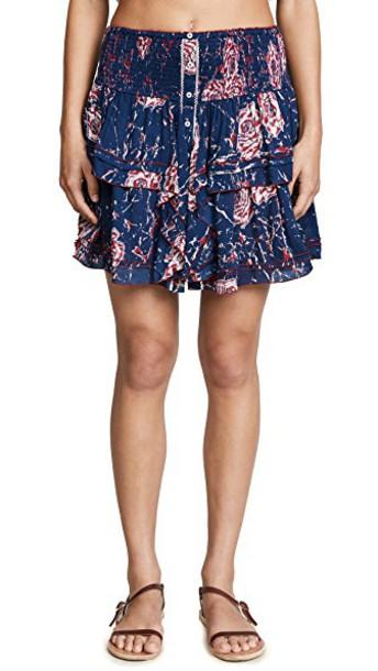 Poupette St Barth miniskirt blue marble skirt