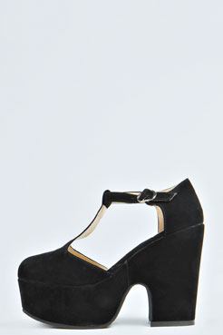 Gracey T-Bar Chunky Heels at boohoo.com