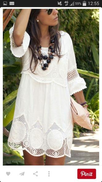 dress white lace hippie summer white dress summer dress boho dress boho