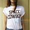 Space cowboy t shirt adult unisex men and women size s-3xl