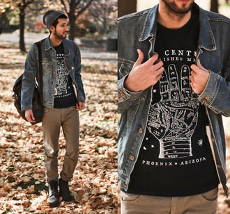 bobby raffin menswear blogger t-shirt jacket mens jacket mens accessories mens denim jacket