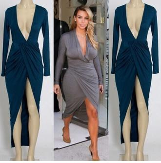 dress kim kardashian dress long sleeve dress highlow