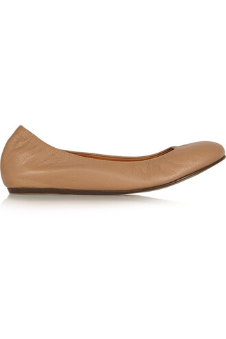 ballet flats ballet flats leather tan shoes