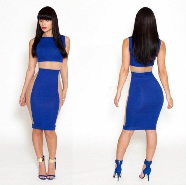 2 Cute Clothing dress blue dress nude cute